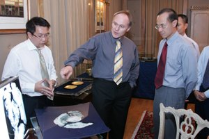 Alvin Chia, Andreas Rettel, Minister George Yeo